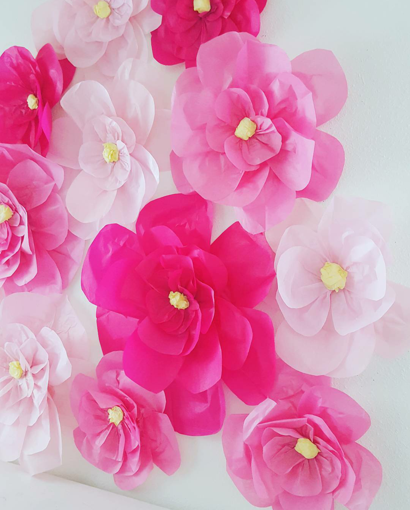 Oversized Tissue Paper Flowers Are An Inexpensive Way To Add Some