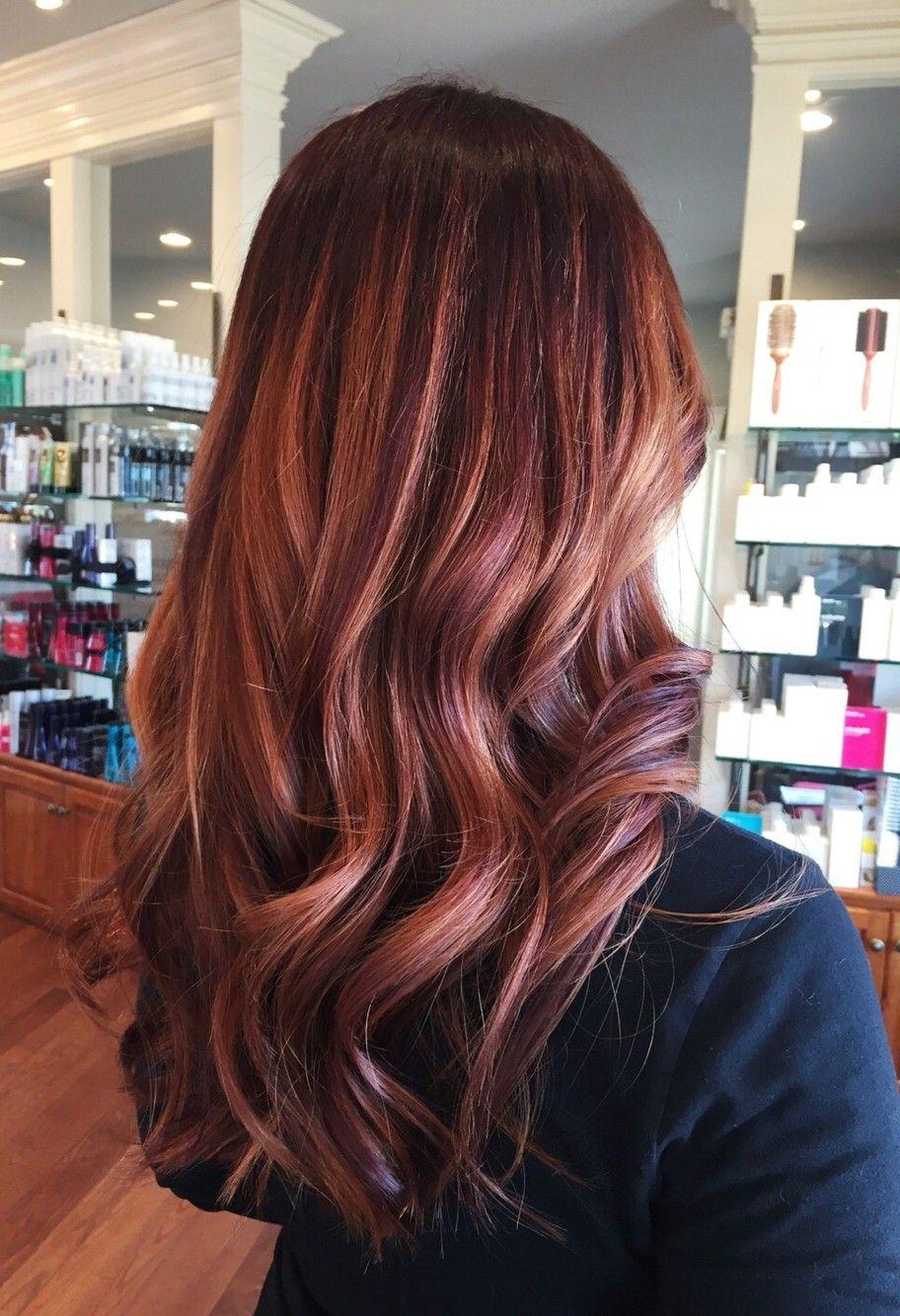Red Mahogany With Gold Highlights Hair Hair Styles Mahogany Hair