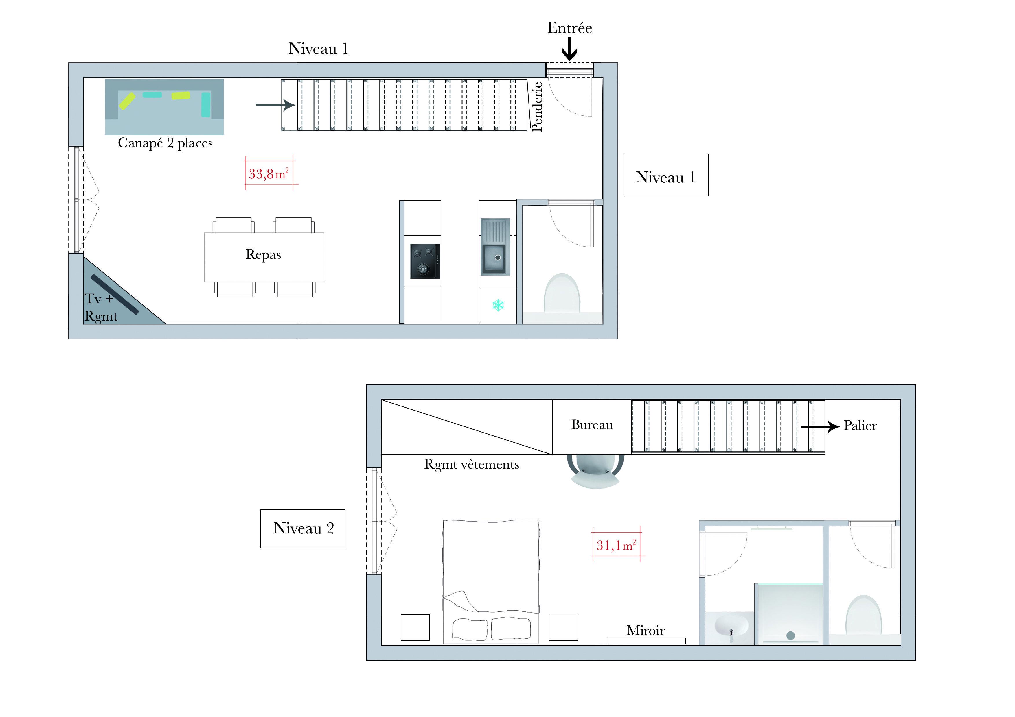 Conseils d 39 architecte comment am nager un studio en duplex - Comment amenager studio ...