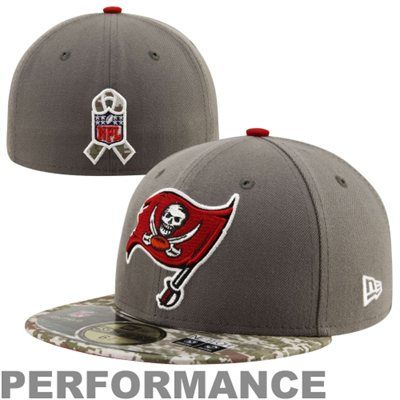 New Era Tampa Bay Buccaneers Salute To Service Fitted Hat  47824a20935