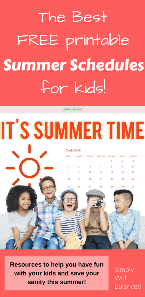 Summer Schedules for Kids that will Save your Sanity #summerschedule