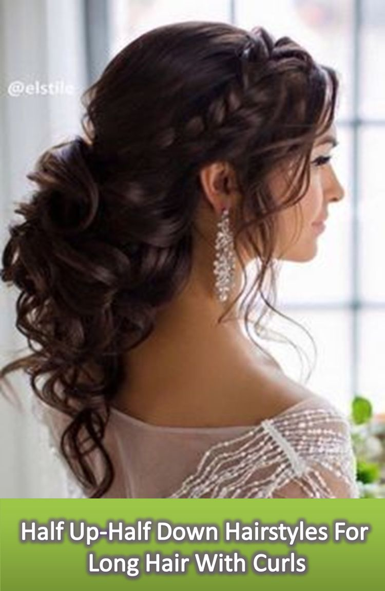 Half Up Half Down Hairstyles For Long Hair With Curls Long Bridal Hair Hair Styles Long Hair Styles