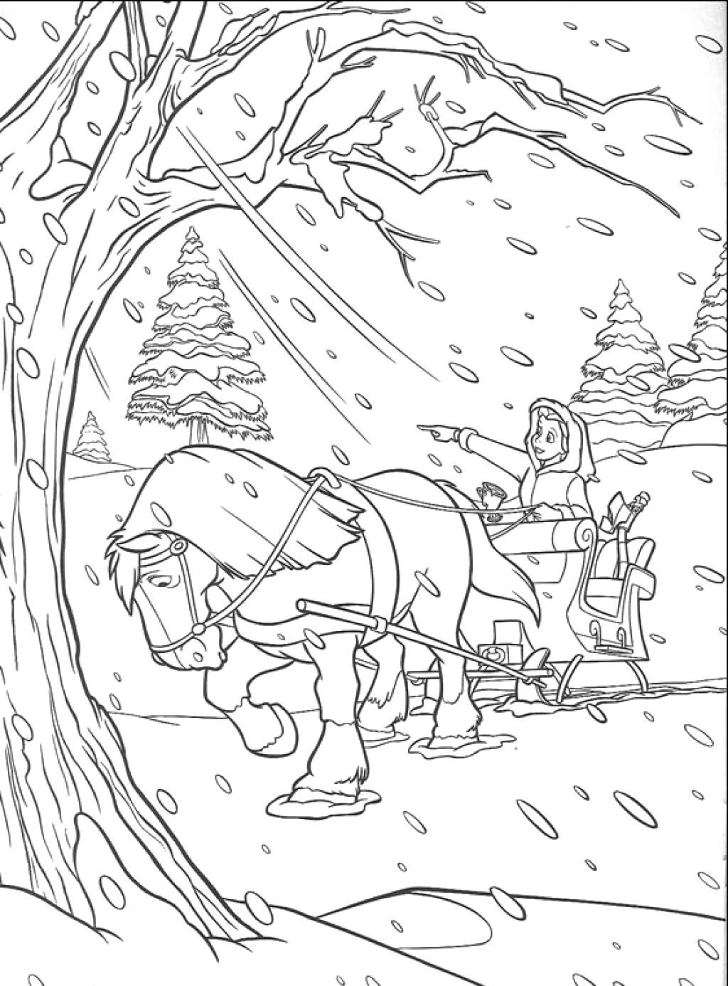 Travel In The Snow Coloring Pages Princess Coloring Pages Disney Princess Coloring Pages Disney Princess Colors
