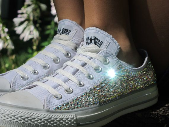 2968ff3c19cc Swarovski Crystal Converse All Stars by SparkleByAriel on Etsy ...