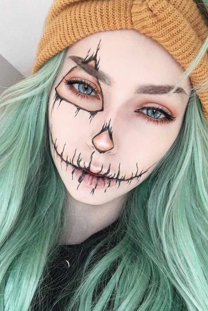 39 Sexy Halloween Make-up Looks, die gruselig und doch süß sind - Samantha Fashion Life #makeupideas