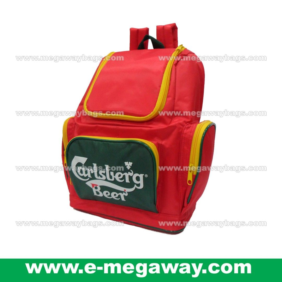 Blue Picnic Bbq Barbecue Outdoor Takeaway Delivery Cooler Backpack Rucksack Beer Carlsberg Advertising Blue Picnic Drinking Beer Advertising Gifts