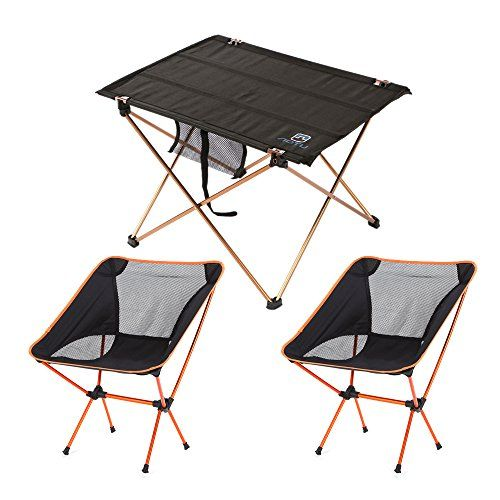 Ultralight Portable Folding Camping Table With Moon Leisure
