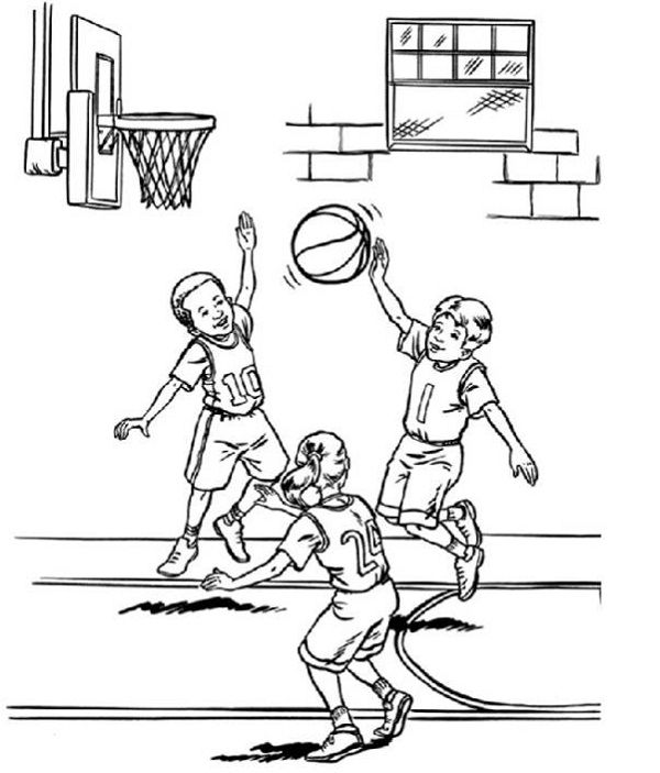 basketball coloring pages for kids - Enjoy Coloring | Coloring pages ...
