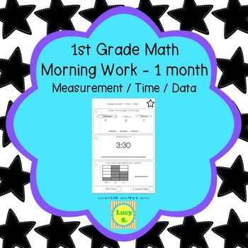 1st Grade Math Morning Work - Measurement, Time and Data - Common ...