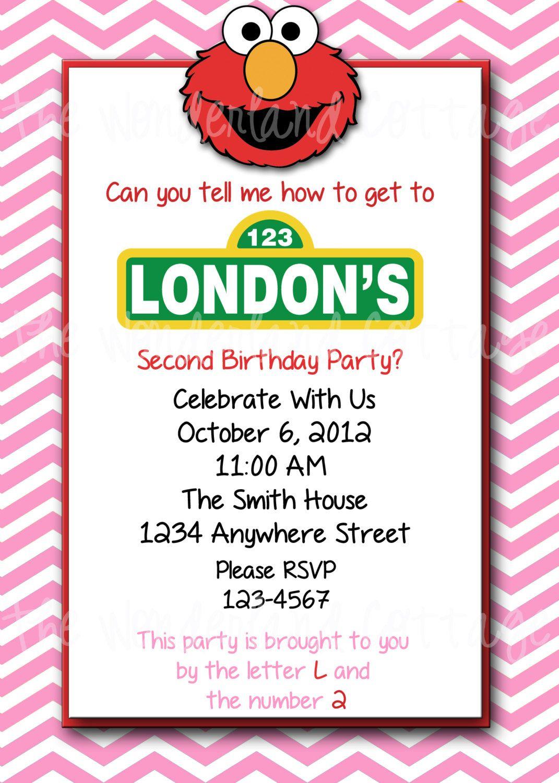Elmo invites | Kaylee\'s 2nd Birthday-Elmo | Pinterest | Elmo ...