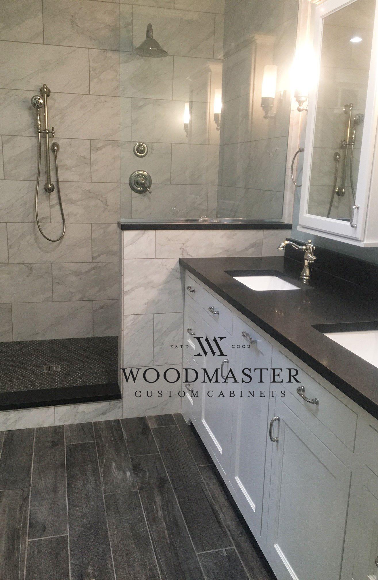Woodmaster Woodworks custom bathroom cabinets