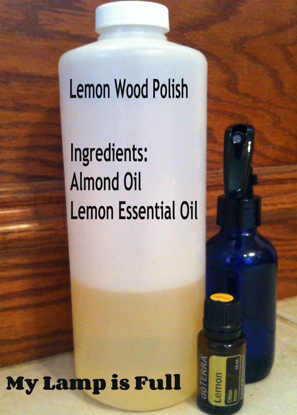 DIY Furniture cleaner/polish Almond &Lemon Oil.