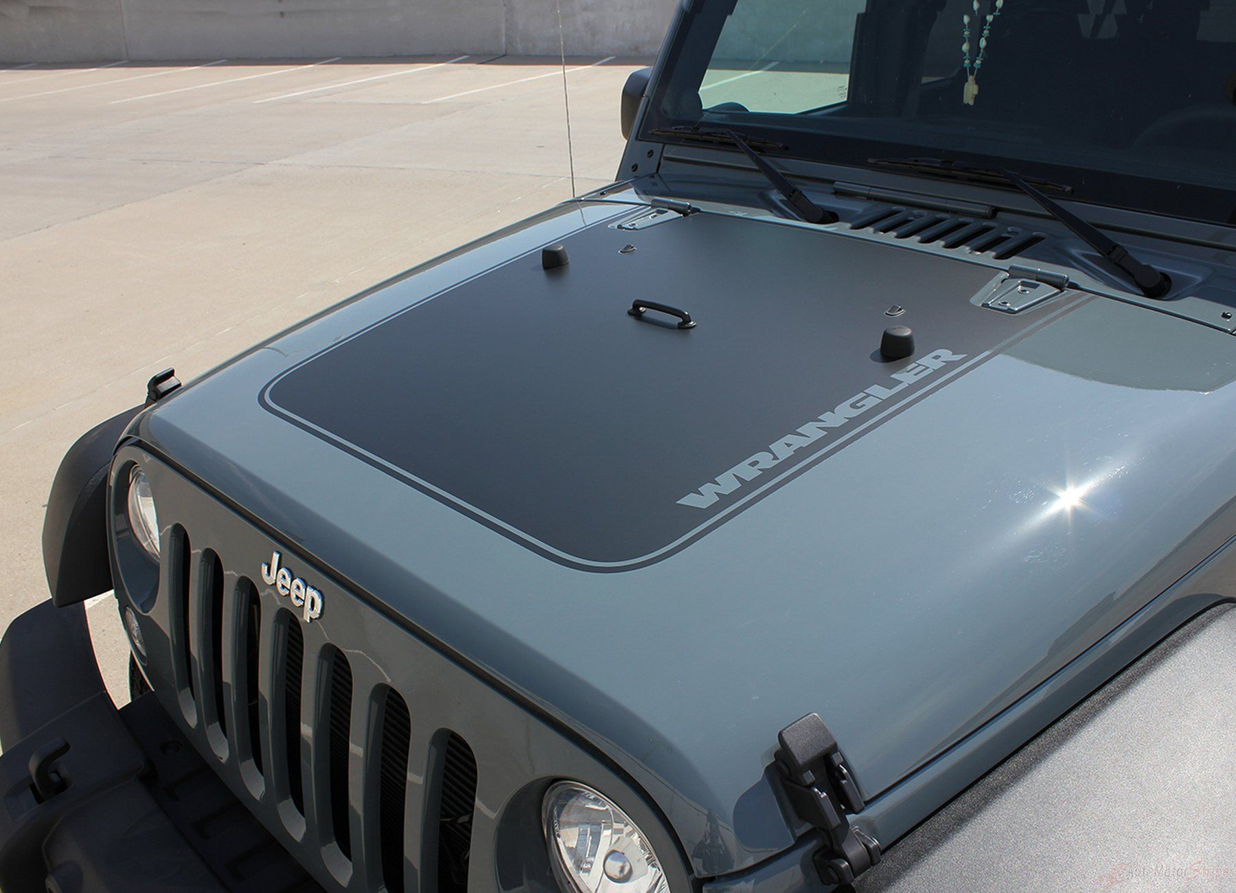 2007 2017 jeep wrangler outfitter oem factory style hood blackout vinyl decal graphic stripes [ 1800 x 1300 Pixel ]