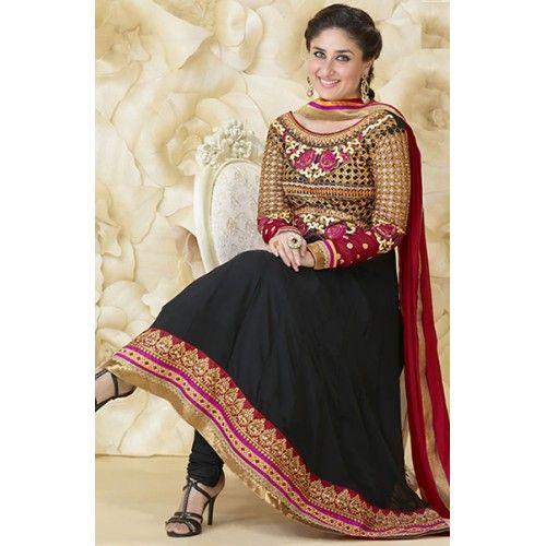 Buy Tantalizing black salwar kameez at affordable price........http://bit.ly/1dJp6XC