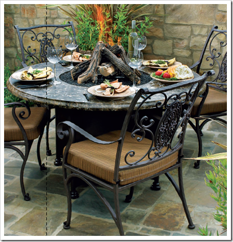 Awe Inspiring Avila Fire Pit Dining Table By O W Lee Landscaping Squirreltailoven Fun Painted Chair Ideas Images Squirreltailovenorg