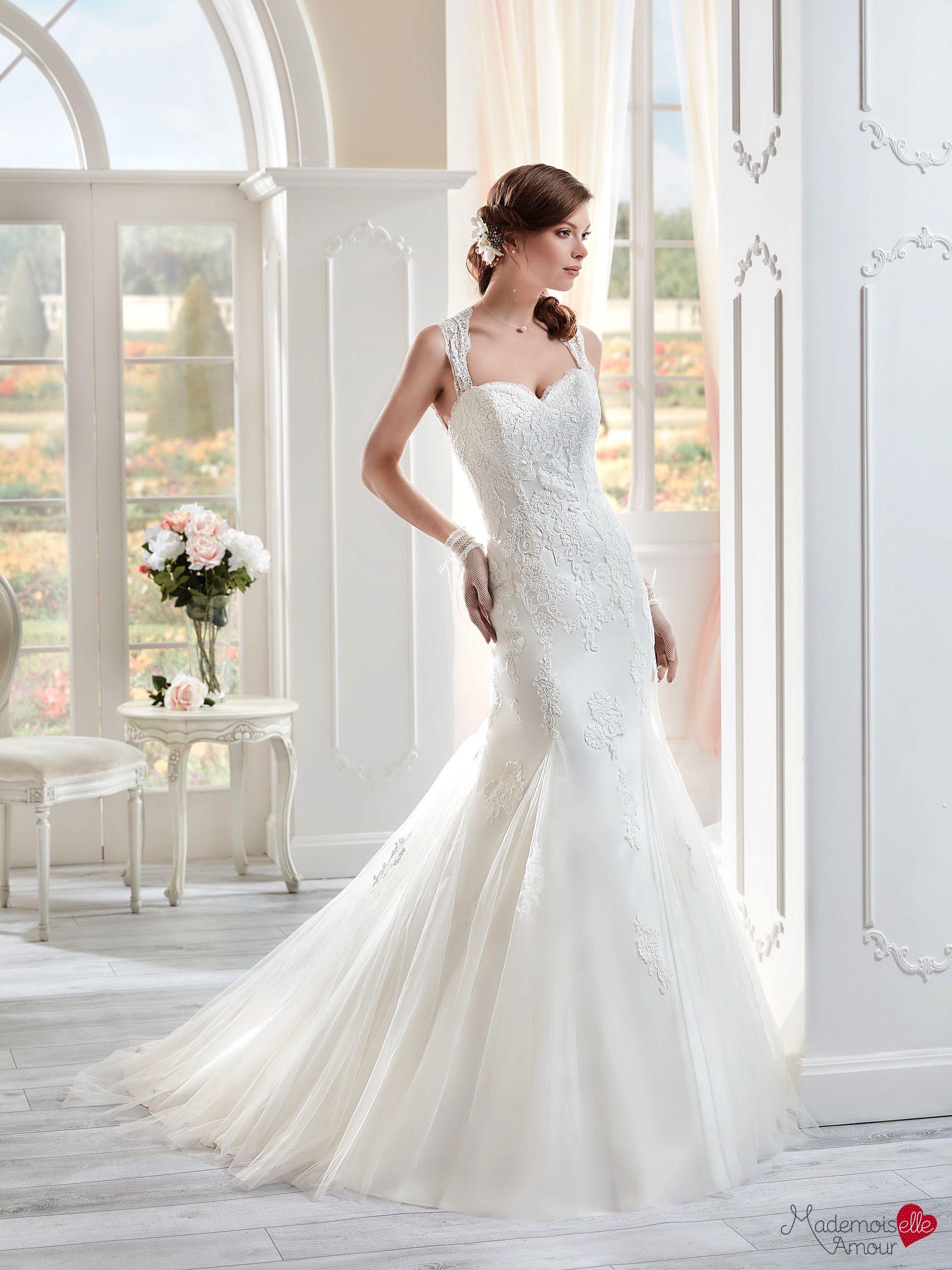 Robe de mariée Mlle Twill, robe de mariée dentelle, robe de mariage forme sirène…