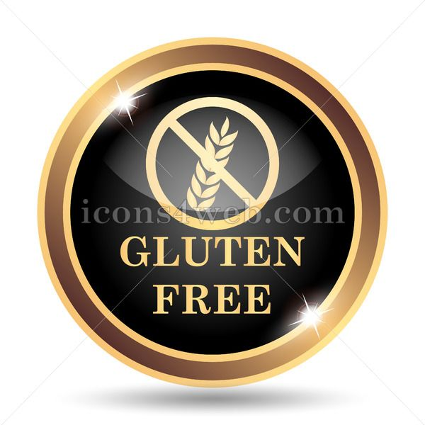 Gluten free gold icon  | Golden icons | Royalty free icons