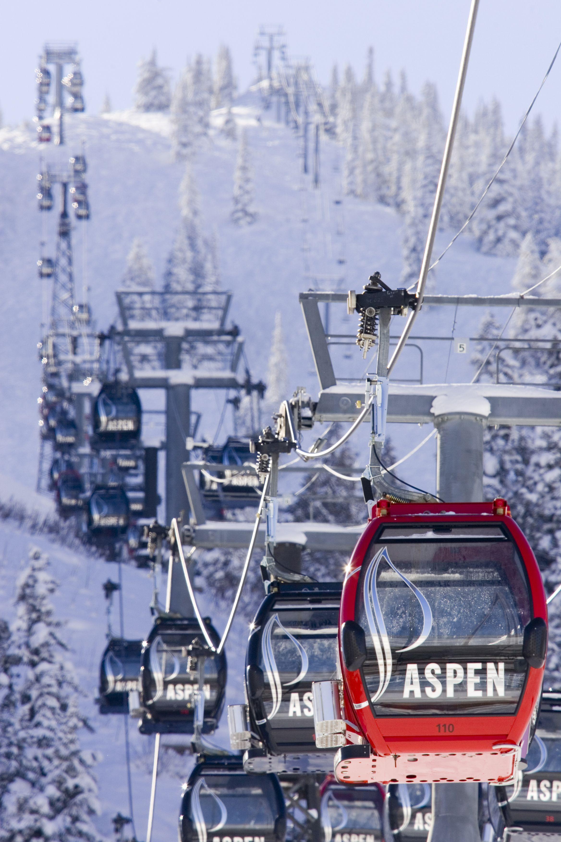 Silver Queen Gondola Aspen Skiing Ski Destination Mountain Travel