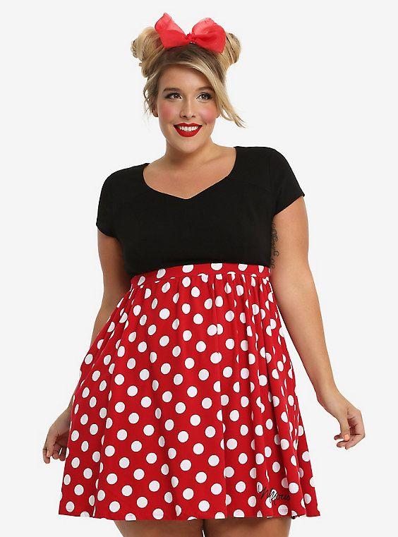Disney Minnie Mouse Polka Dot Dress Plus Size | My Pinterest Closet ...