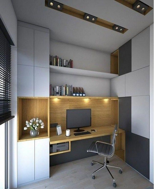 Small Space Homeoffice Corner Desk: Modern Home Office