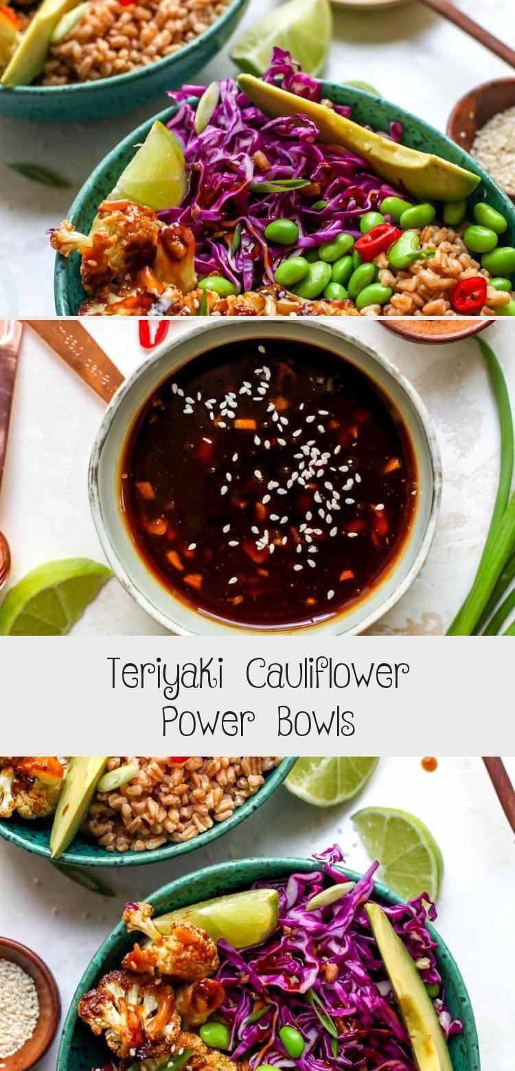 Teriyaki Cauliflower Power Bowls - #Bowls #Cauliflower #Power #Teriyaki