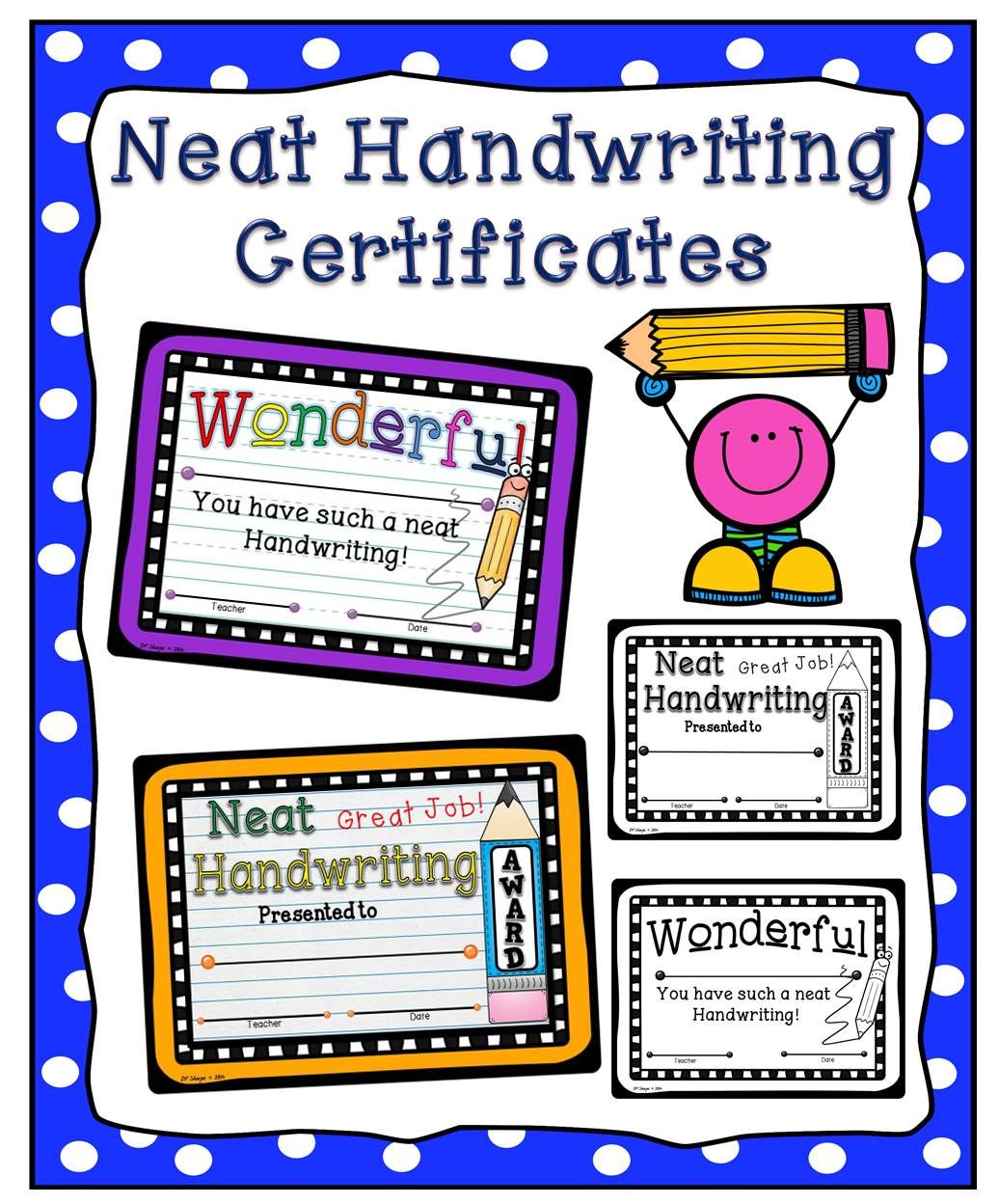 neat handwriting certificates | activities for early grades