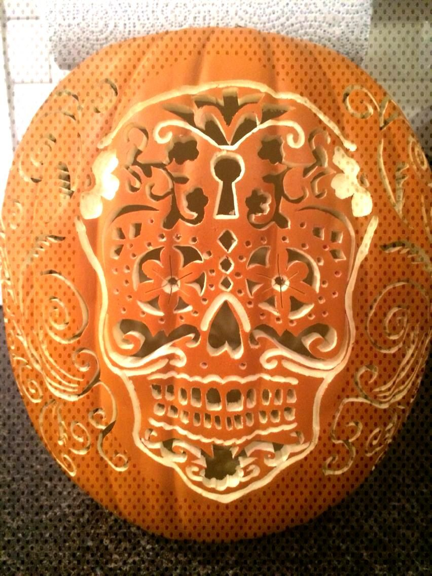 Sugar Skull pumpkin.