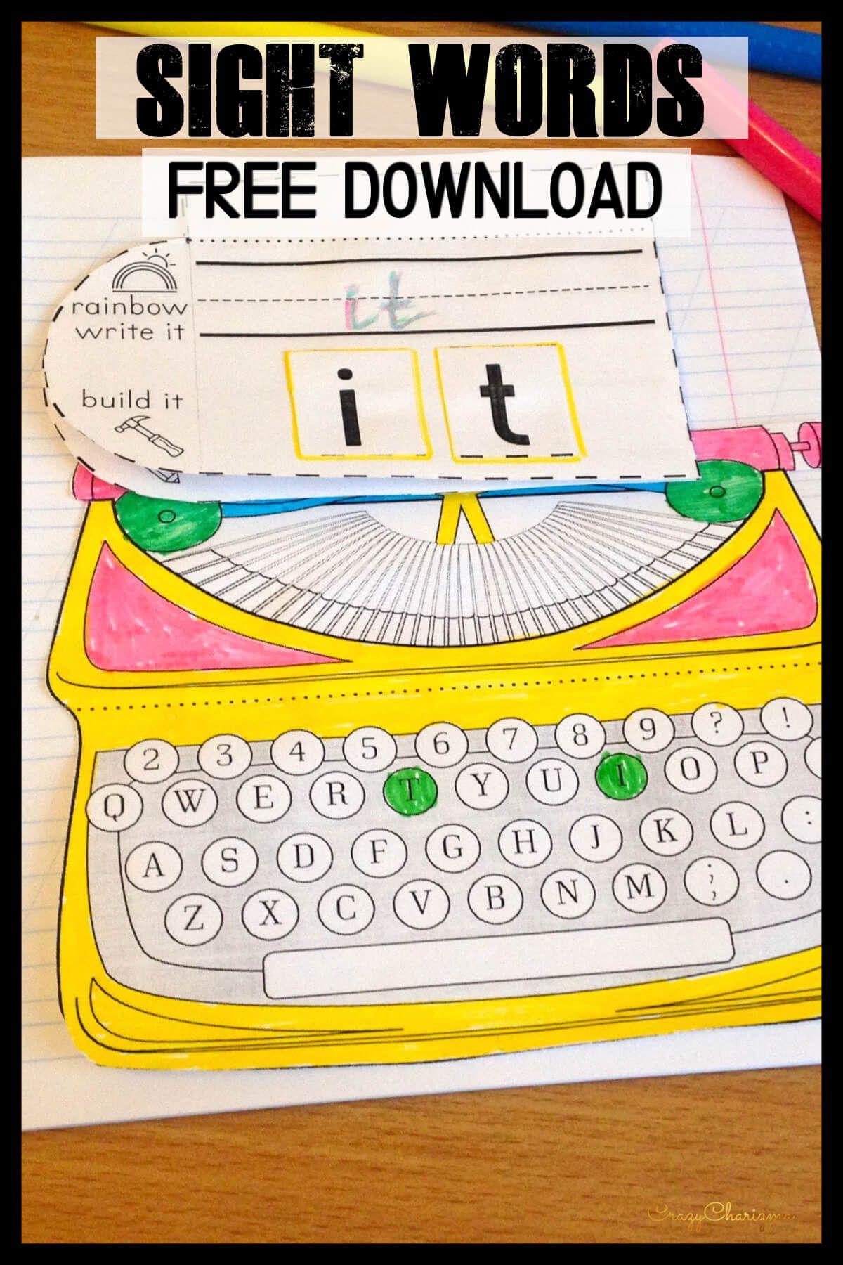 Sight Words Kindergarten Free