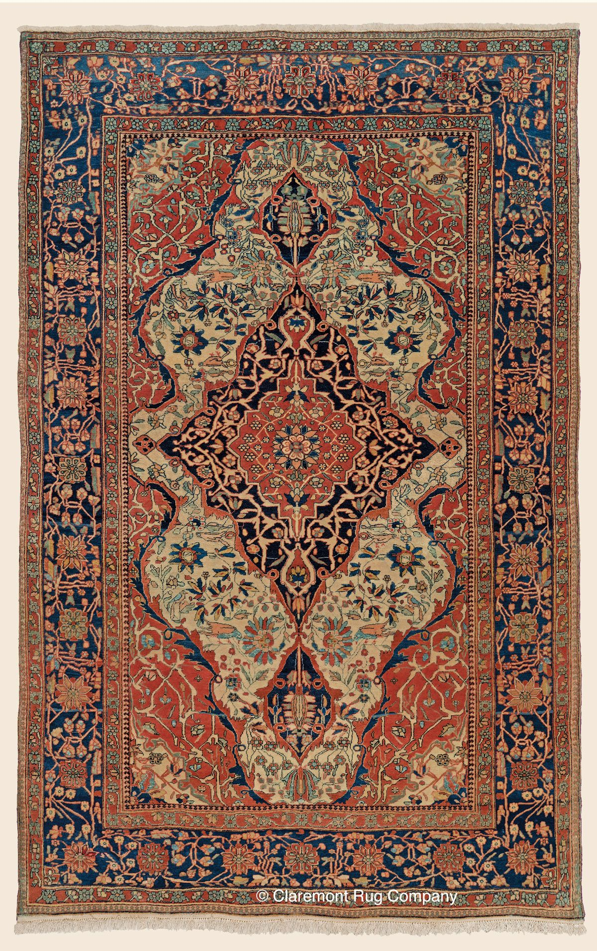 Mohtasham Kashan 4 4 X 6 10 Late 19th Century Central Persian Antique Rug Claremont Rug Company Click To Lea Rugs Rugs On Carpet Claremont Rug Company