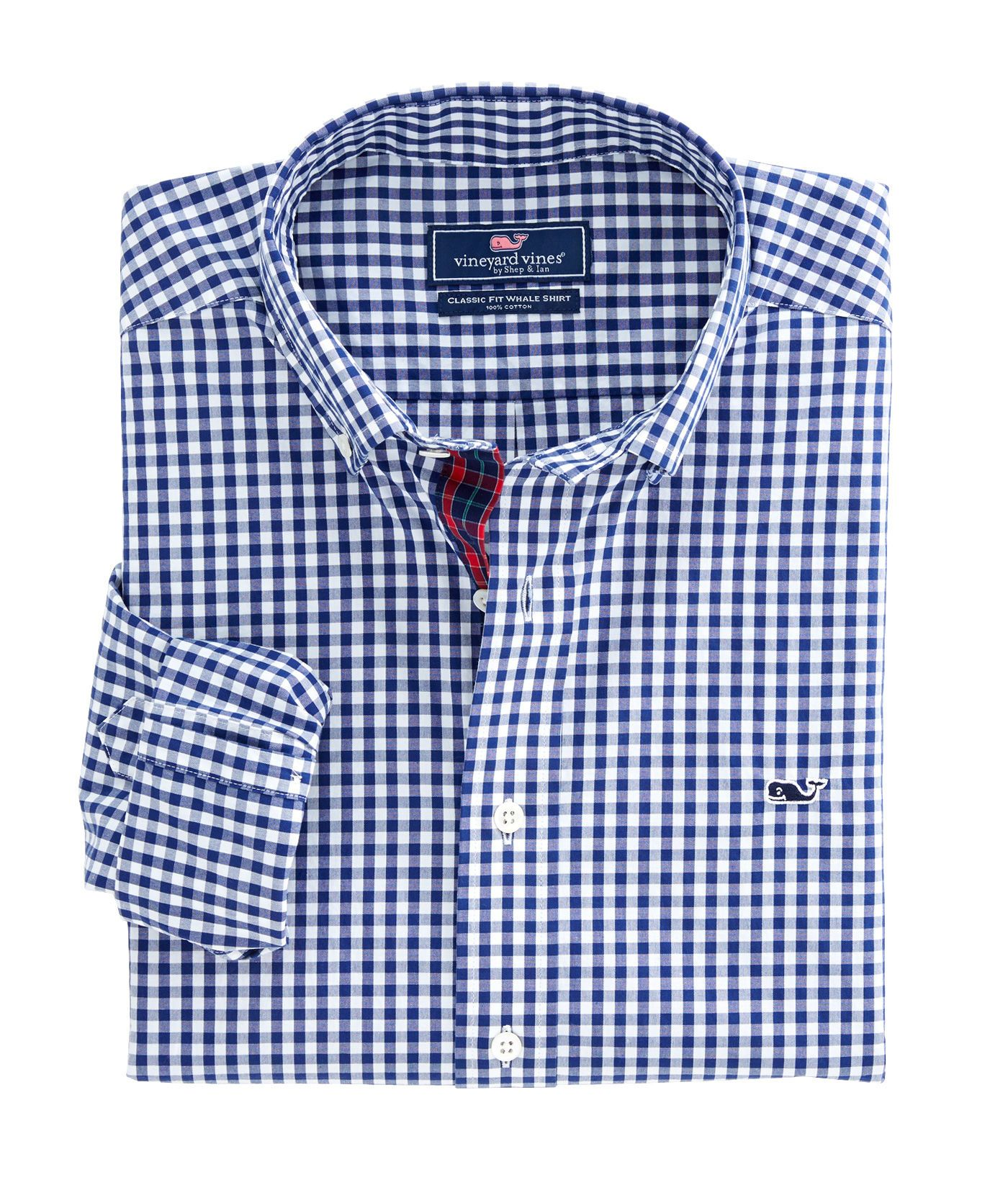 da38f6bf Shop New River Plaid Classic Whale Shirt at vineyard vines | The ...