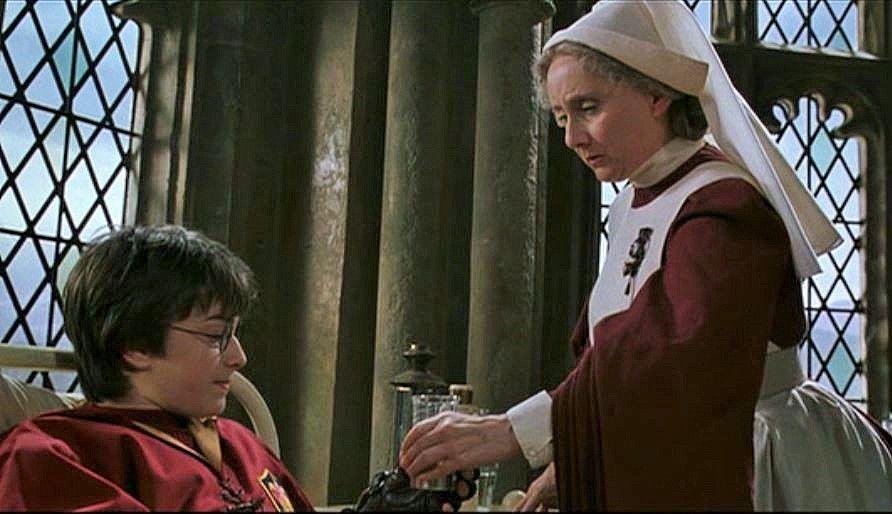 Gemma Jones As Madame Pomfrey Hogwarts School Nurse Harry Potter And The Chamber Of Secrets Olivia De Havilland Harry Potter Thespians
