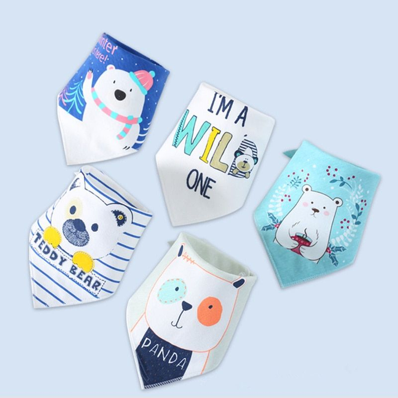43e90c24d33a6 Baby Bibs for Boy Girl Bandana Bib Burp Cloth Print Animal Triangle Cotton  Baby Scarf Meal