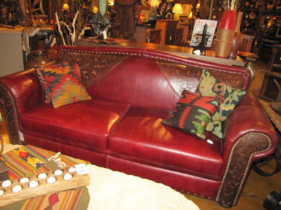 Cesi Tooled Leather Sofa