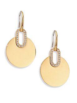 3200ba332699 Michael Kors - Cityscape Disc Pavé Drop Earrings