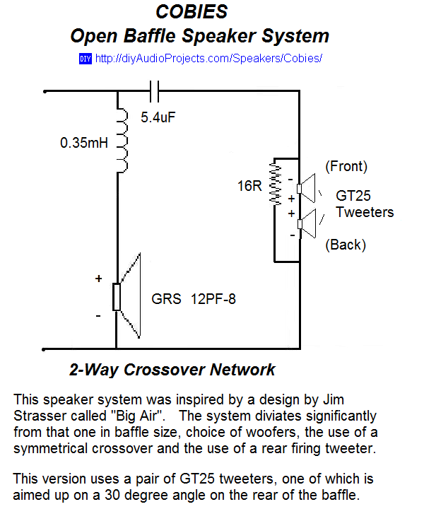 Open Baffle Speaker 2-Way Crossover Schematic | Audio | Open baffle on 2-way active crossover, 2-way electronic crossover board, inductor schematic, 2-way crossover audio, 2-way stereo crossover tube, 2-way crossover design, 2-way crossover graph, spectrum analyzer schematic, 2-way speaker crossover,