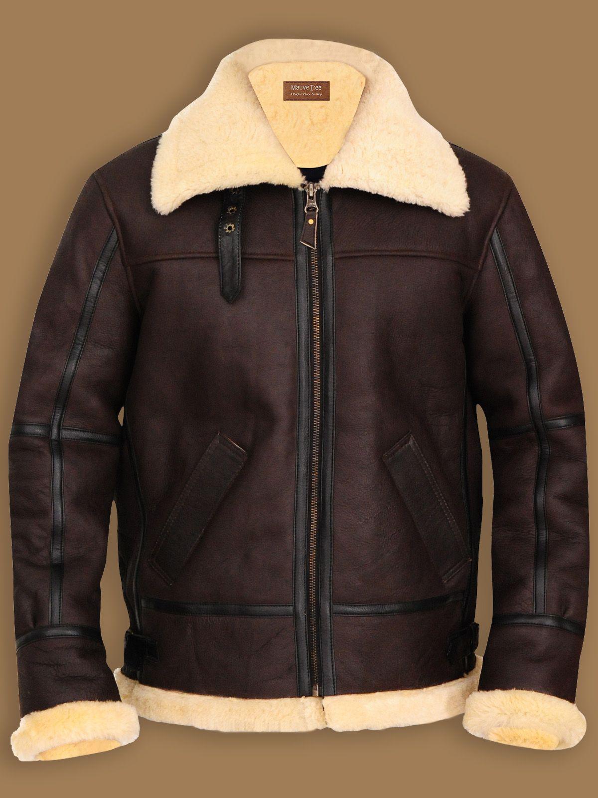 B3 Bomber Aviator Sheepskin Leather Jacket Men Jacket Mauvetree Leather Bomber Jacket Leather Jacket Mens Jackets [ 1600 x 1200 Pixel ]