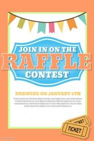 Raffle Flyer Template Contest Poster