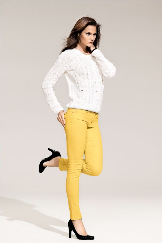 Yellow + white!