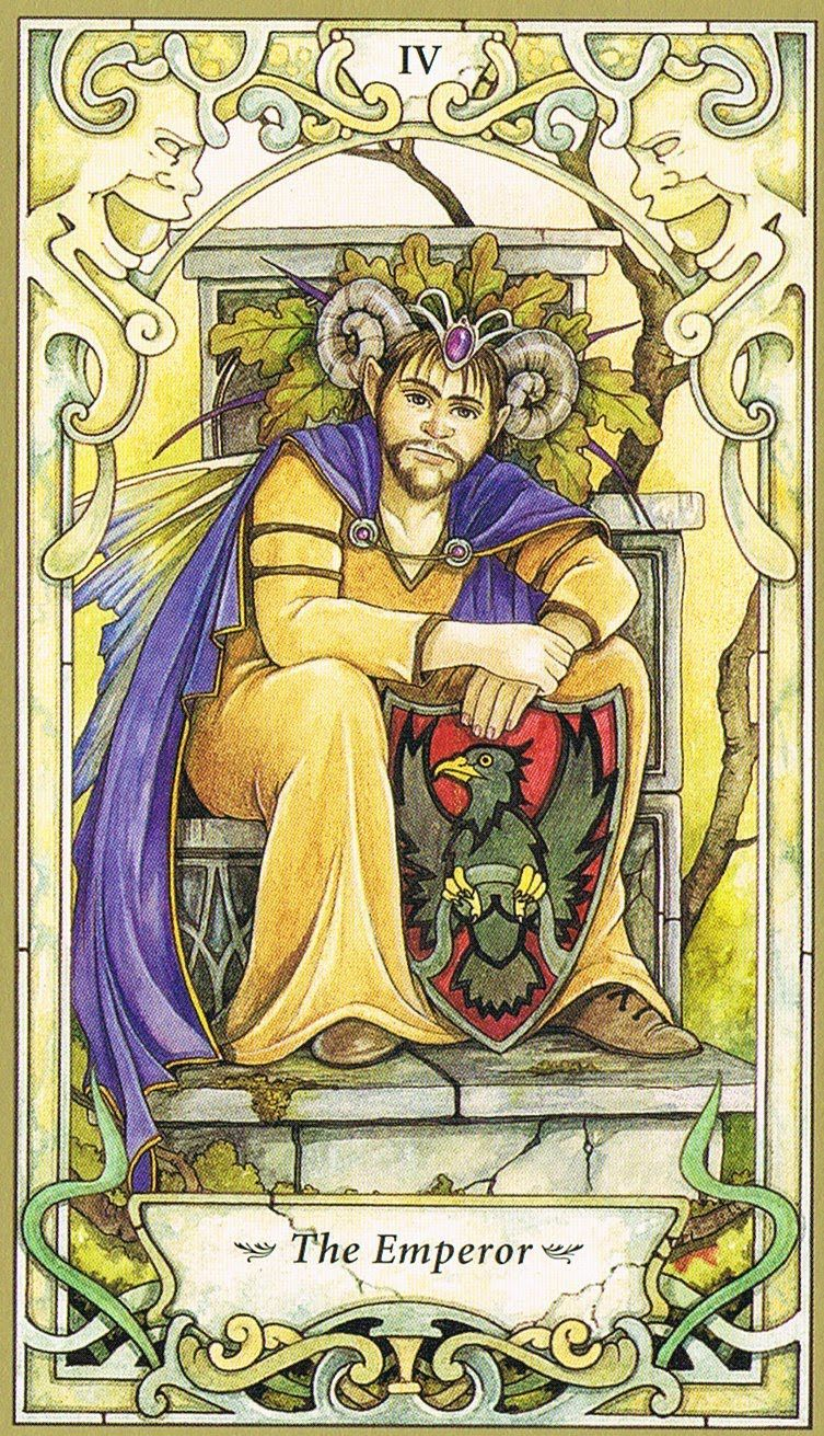 Mystic faerie tarot the emperor tarot cartas