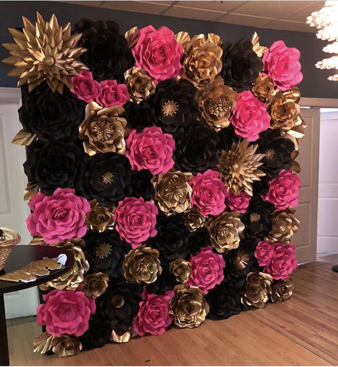 Paperflower Backdrop Paper Flower Backdrop Paper Flowers Flower Backdrop