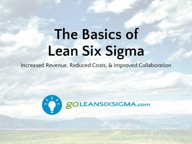 The Basics Of Lean Six Sigma Lean Six Sigma Sigma Risk Management