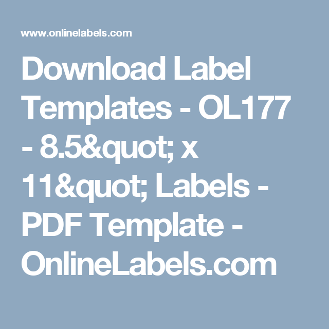 Download Label Templates  Ol   X  Labels  Pdf
