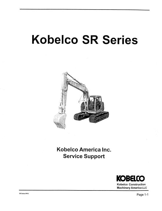 Kobelco SR70, SR115, SR135, SR200, SR235 Excavator Service