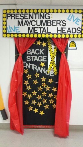 Boosterthon Rock N Town Classroom Door Rock And Roll Theme Red