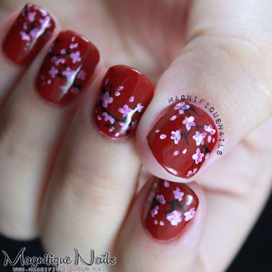 Japanese Cherry Blossom Nail Art Tutorial - Glam Express