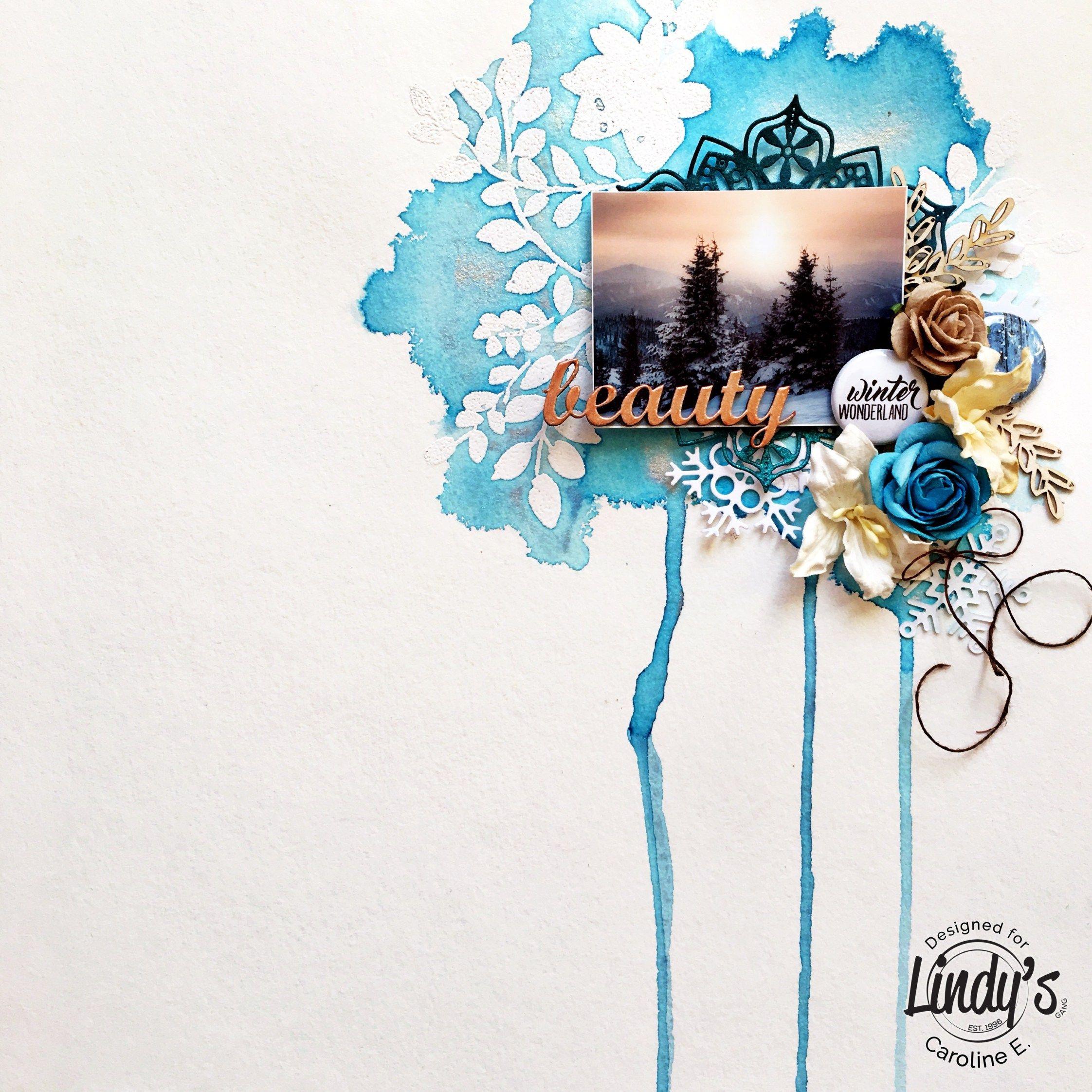 Winter Wonderland Resist Background With Caroline Love Scrapbook