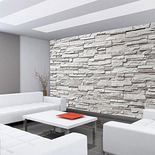 Vliestapete Fototapete Vlies Tapete  Steinmauer Steine Steinwand Steinoptik 3D  400x280cm