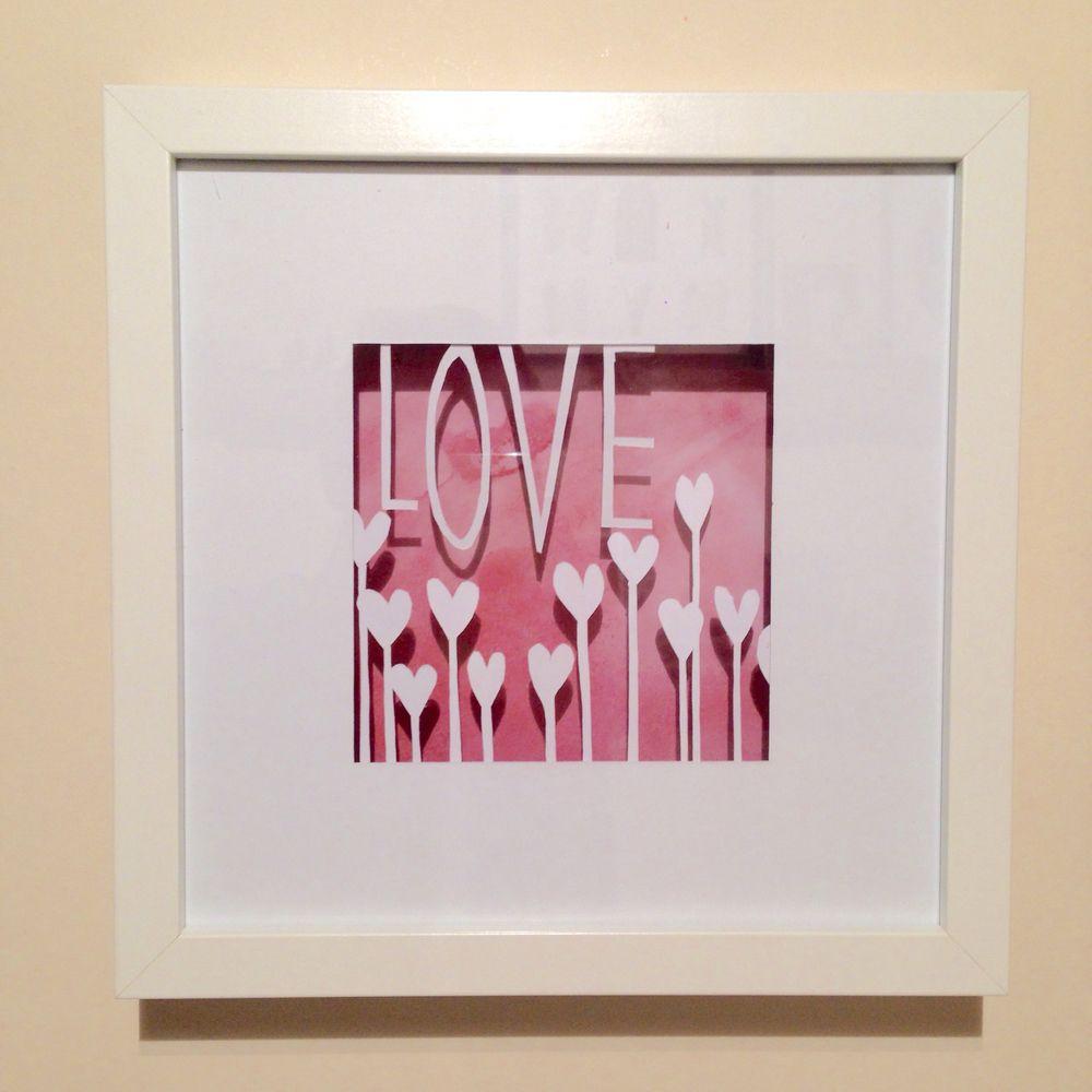 love cut out deep frame