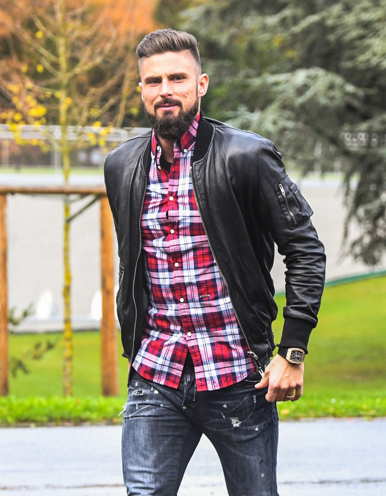 Love The Beautiful Game Mens Outfits Classy Men Leather Jacket Men