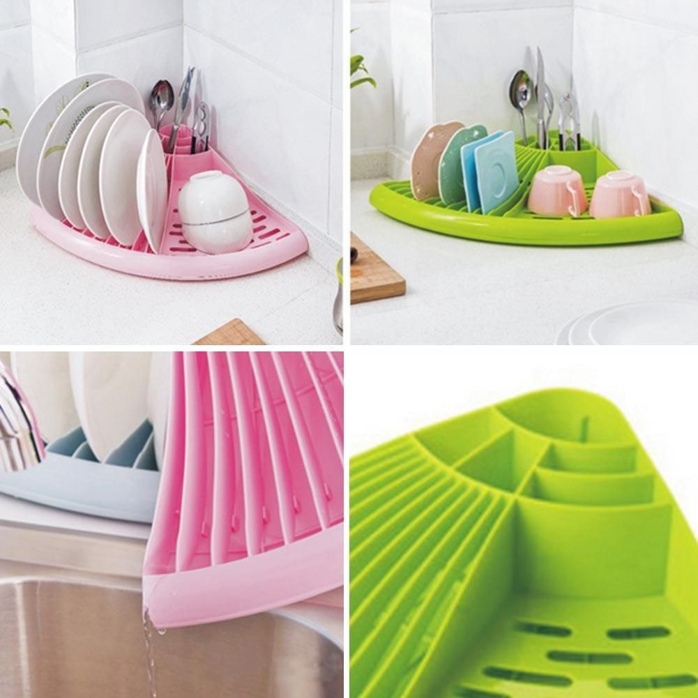 Hot Triangle Plastic Plate Dish Cutlery Cup Drainer Rack Drip Tray Plates Holder  sc 1 st  Pinterest & Hot Triangle Plastic Plate Dish Cutlery Cup Drainer Rack Drip Tray ...